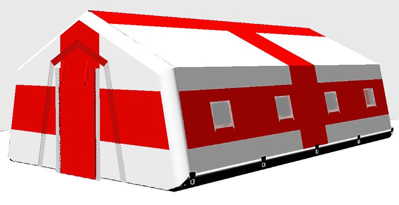 Спасательная надувная пневмокаркасная палатка TENTER