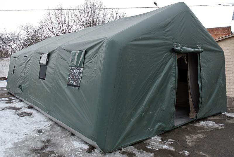 Спасательная надувная пневмокаркасная современная палатка для МЧС госипталя TENTER