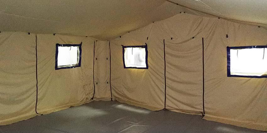 Интерьер универсальной модульной пневмокаркасной палатки TENTER ПКПМ