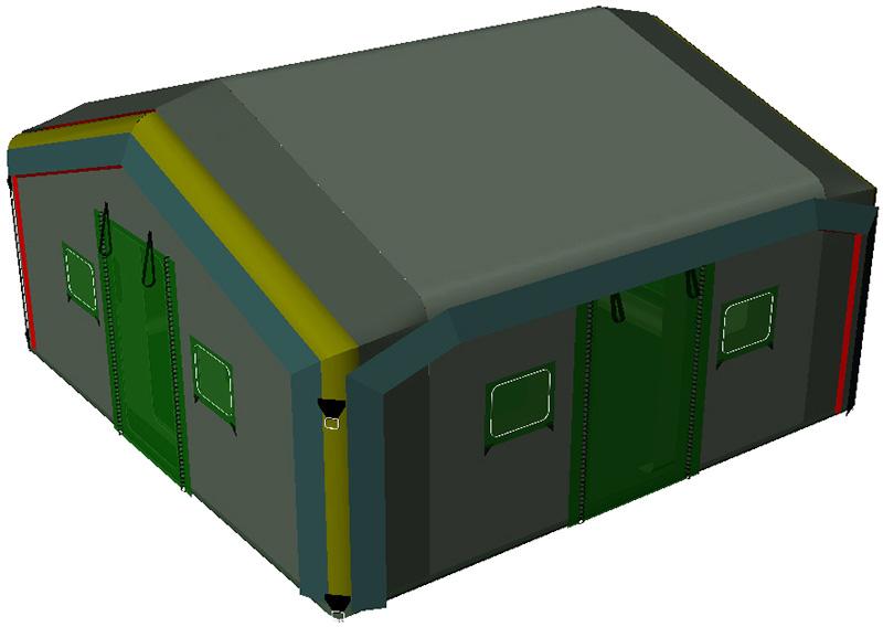 Модульная надувная пневмокаркасная универсальная палатка TENTER