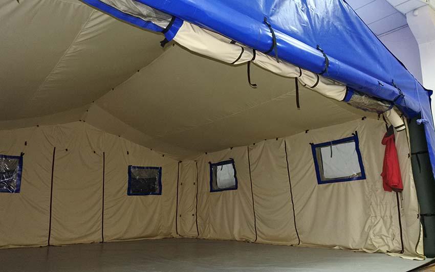 Универсальная модульная пневмокаркасная палатка TENTER ПКПМ с открытой стеной