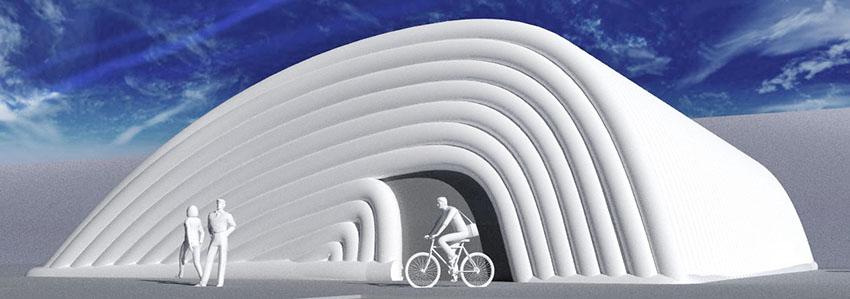 Дизайнерское надувное пневмокаркасное здание сооружение TENTER