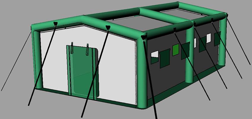 Пневмокаркасная надувная универсальная палатка TENTER ПКП-44N по стандартам НАТО. Конструкция