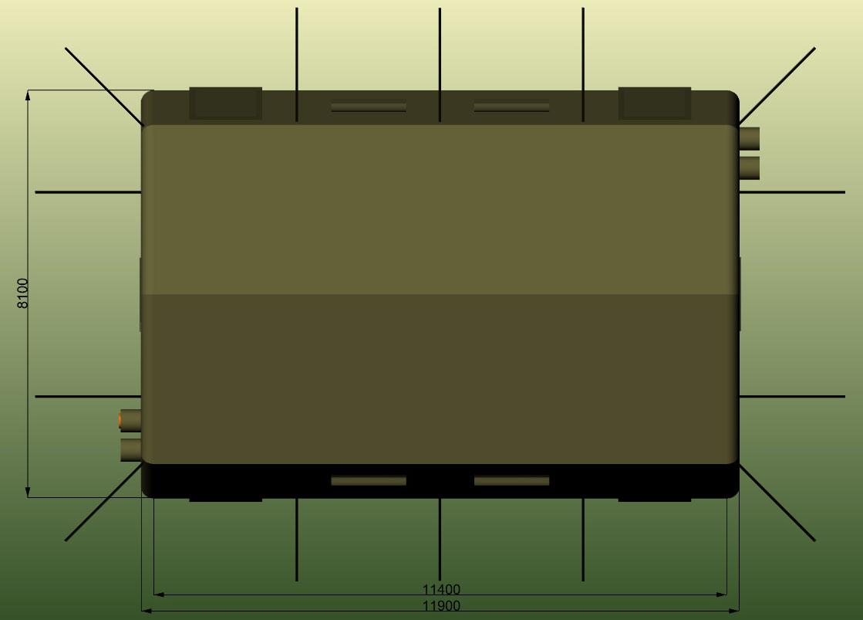 Надувная пневмокаркасная палатка TENTER ПКП-96NT по стандартам НАТО совместимая с американской стандартной палаткой  TEMPER. Вид сверху