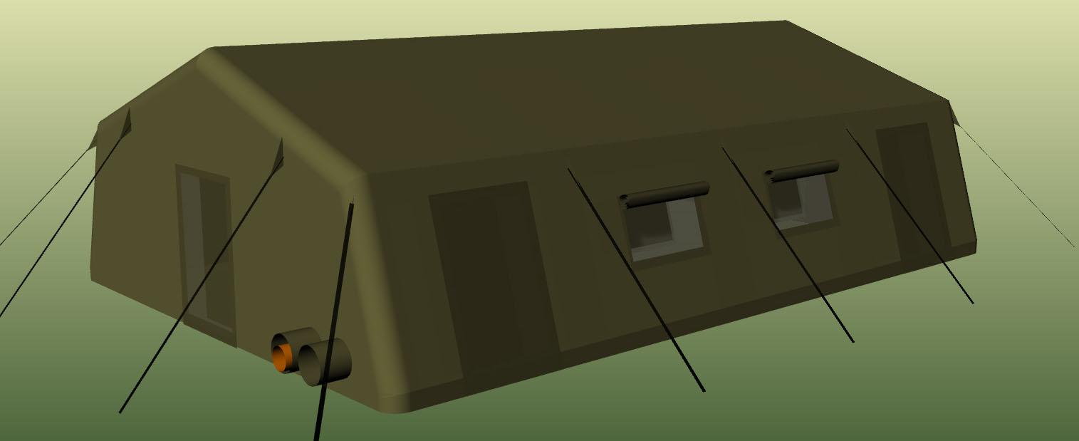 Надувная пневмокаркасная палатка TENTER ПКП-96NT по стандартам НАТО совместимая с американской стандартной палаткой  TEMPER