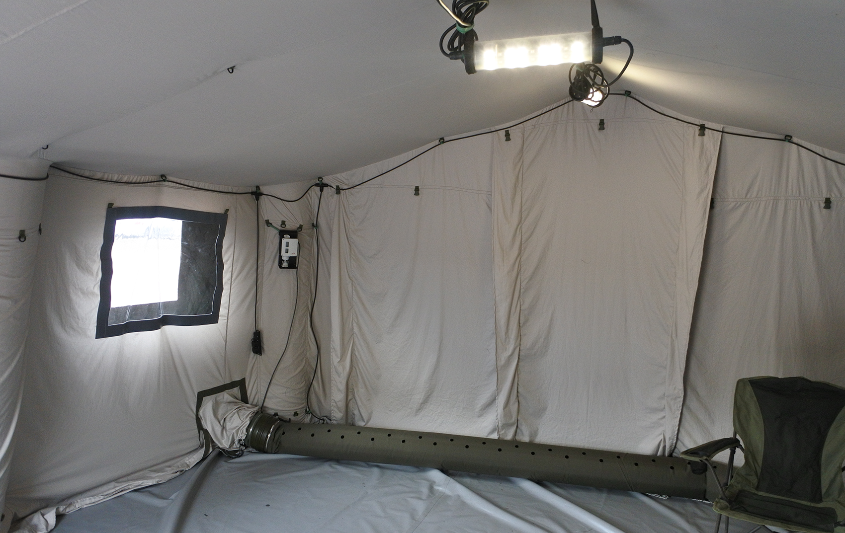 Внутренний тент утеплитель надувной пневмокаркасной военной палатки TENTER ПКП-27