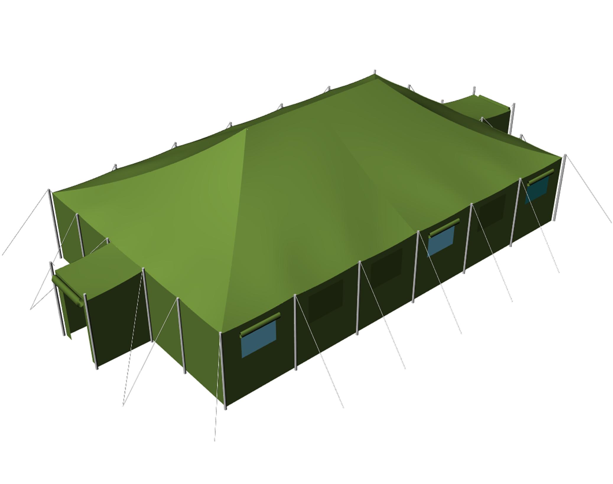 Военные и спасательные надувные пневмокаркасные палатки для армии МЧС