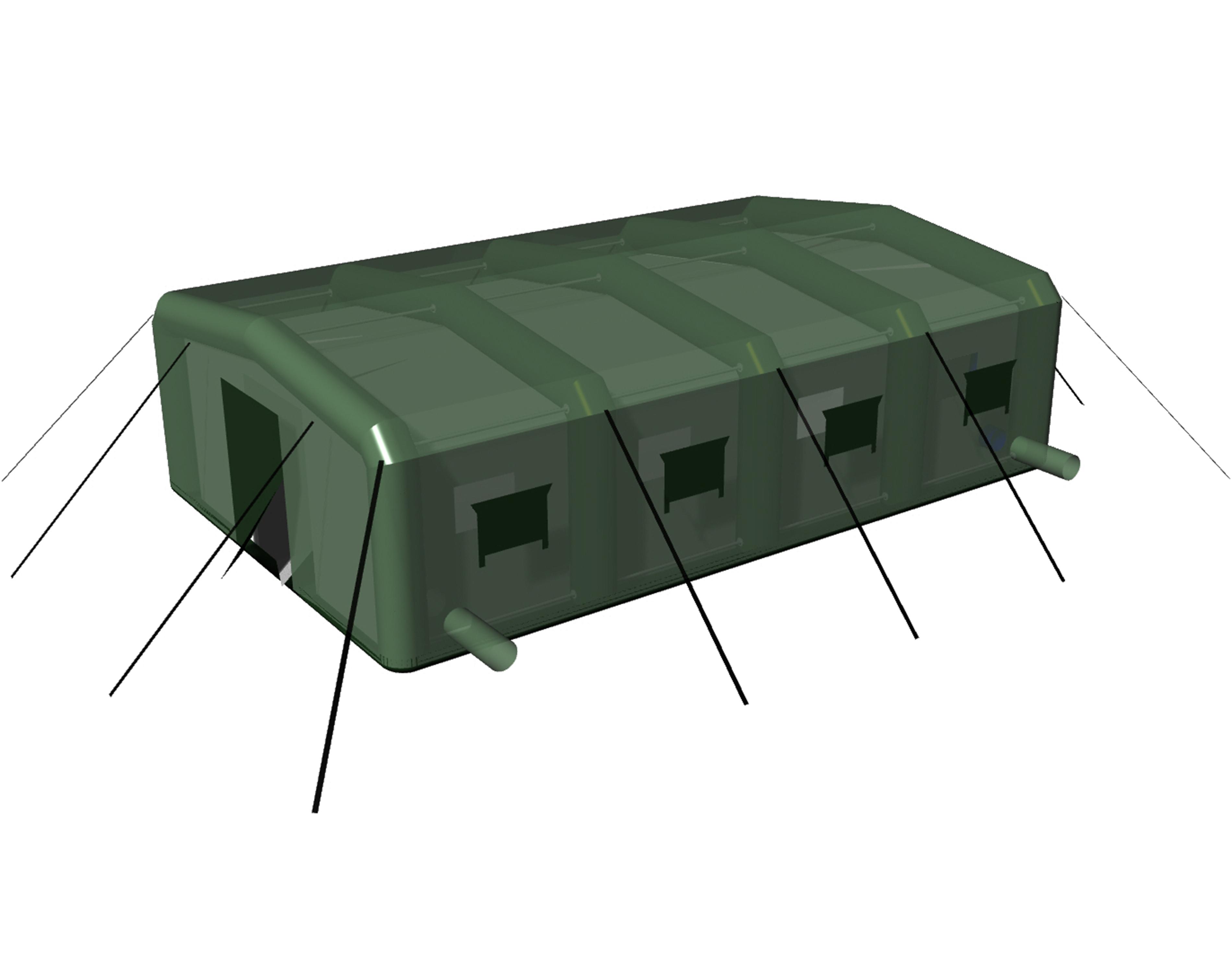 Универсальные надувные палатки с гибридным комбинированным пневмо-металлическим каркасом