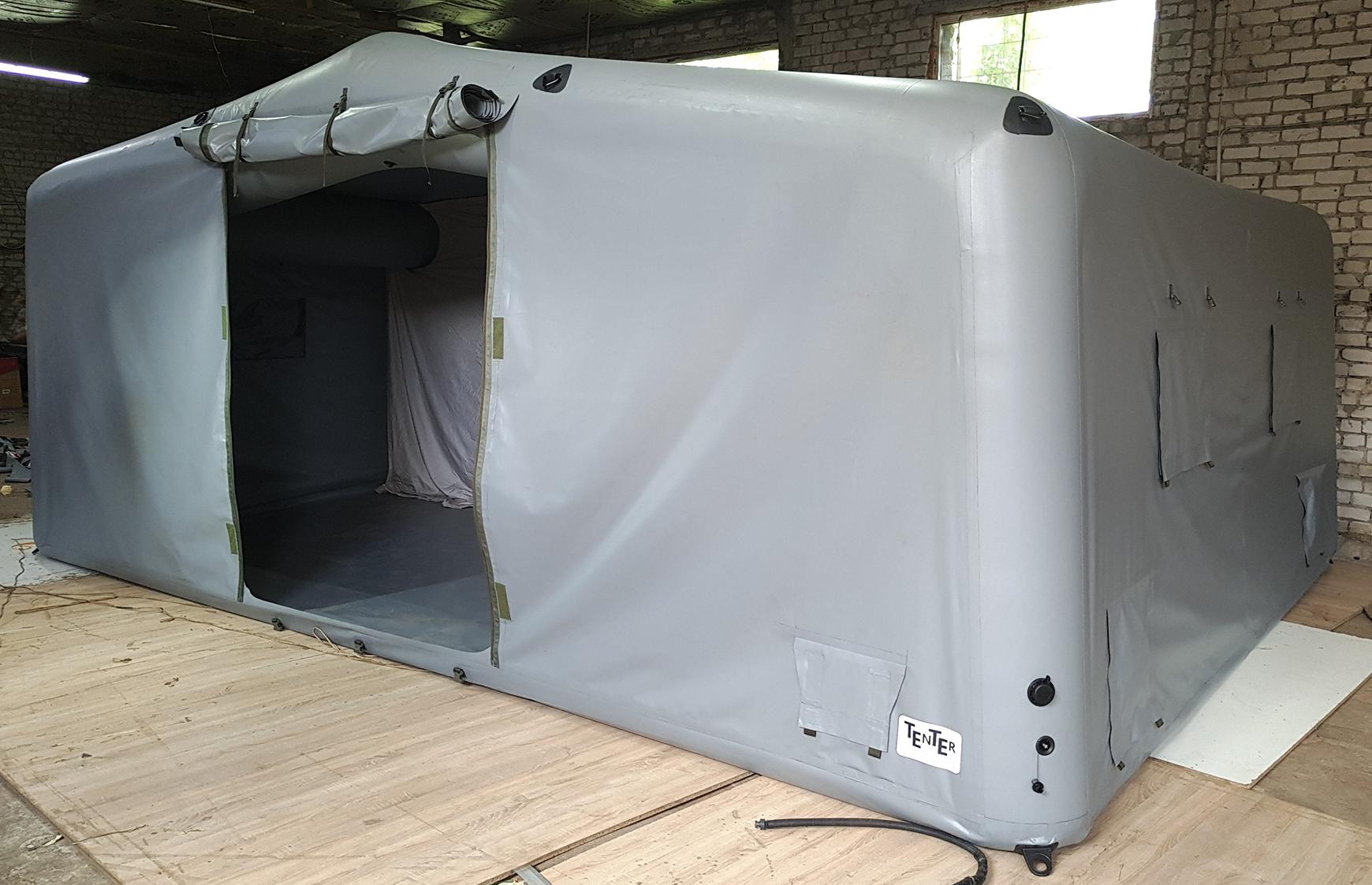 Бюджетная надувная пневмокаркасная палатка для службы спасения аэропорта