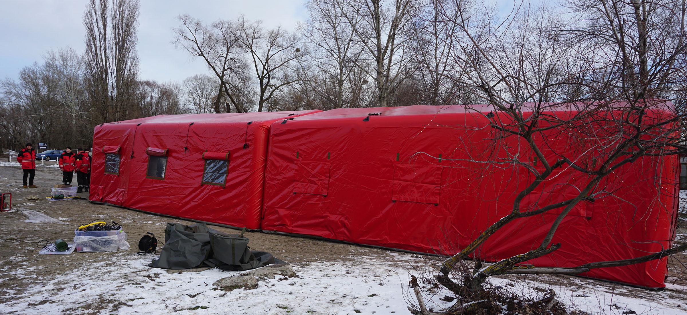 Модульные пневмокаркасные палатки для МЧС и служб спасения
