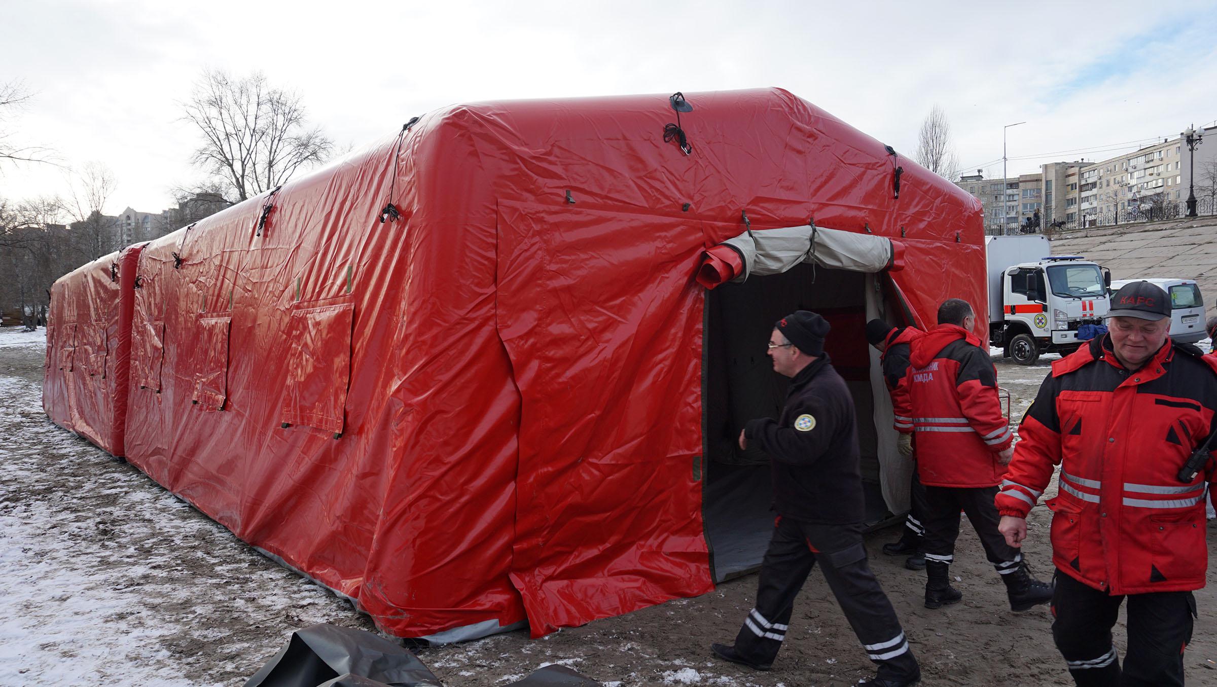 Спасательные надувные пневмокаркасные палатки TENTER AFT-55-80