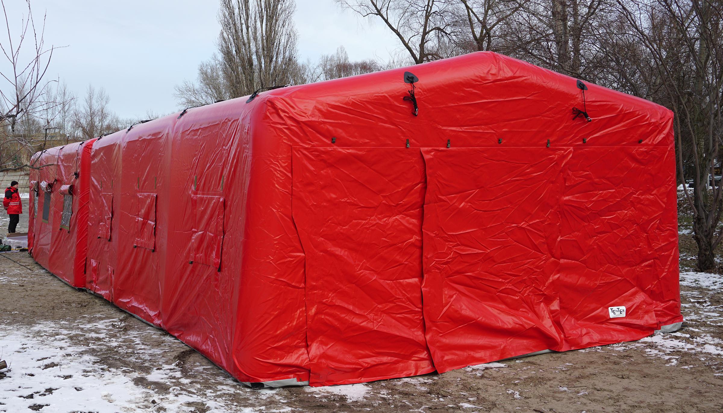 Универсальные модульные надувные палатки для армии и МЧС