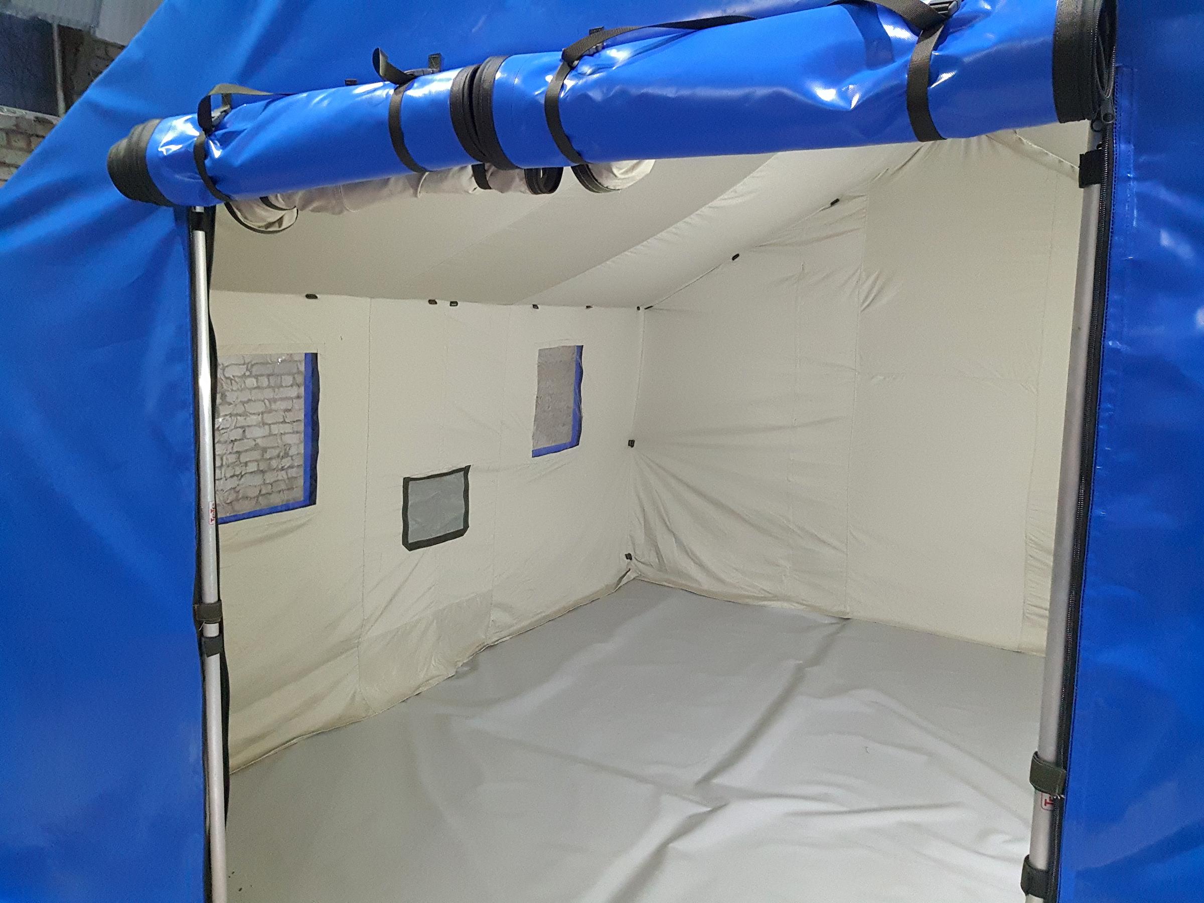 Каркасная военная спасательная палатка c утеплителем TENTER FT-40-40
