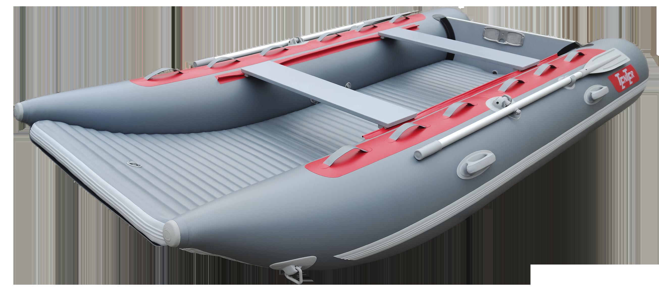 Легкая надувная лодка катамаран с надувным дном TENTER ROCKET